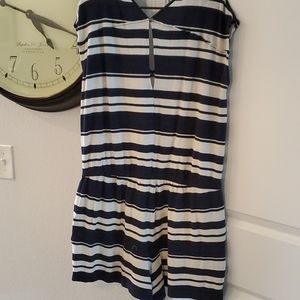 Lou & Grey Other - NAVY AND IVORY ROMPER BY LOU AND GREY